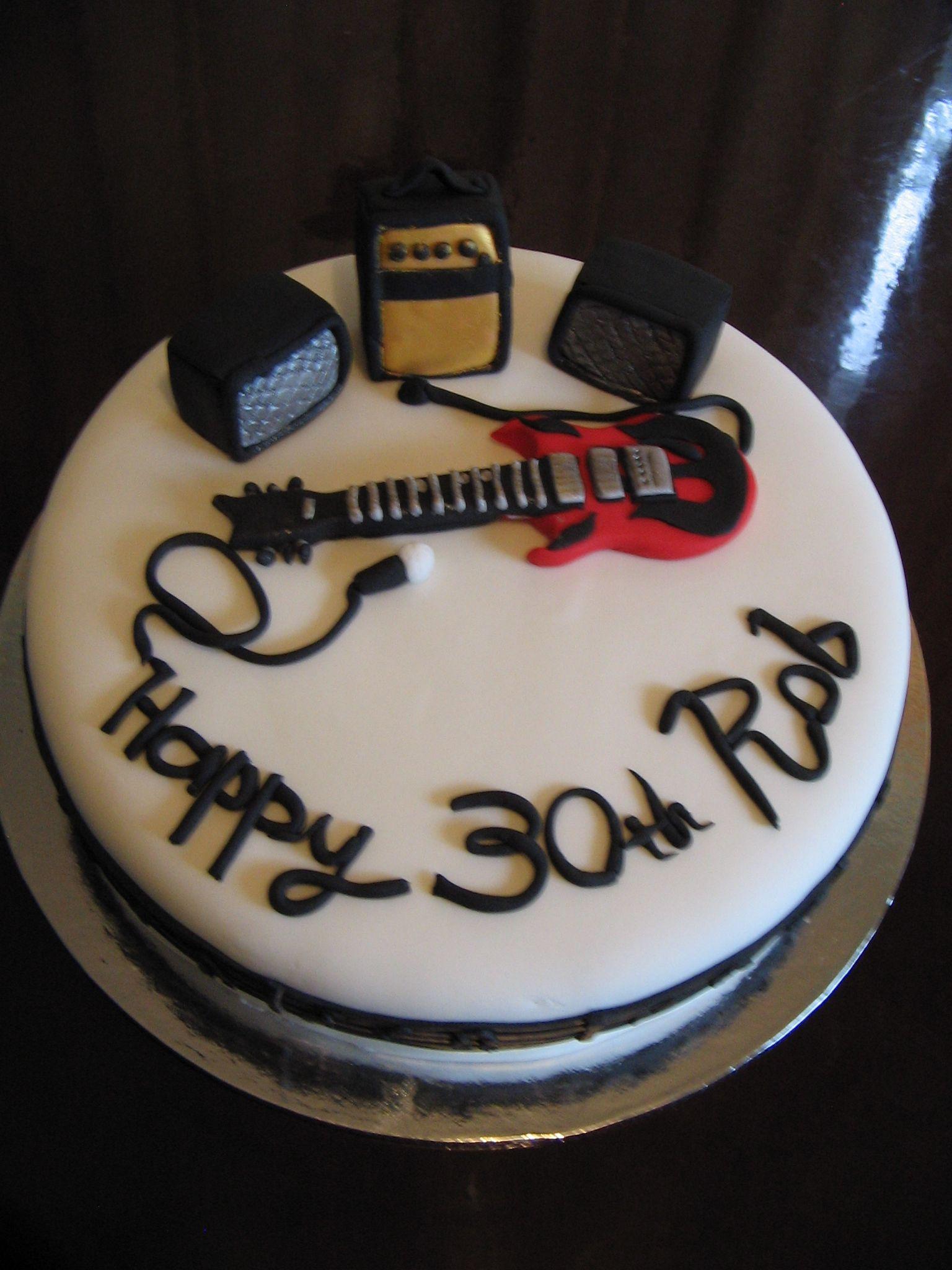 Cake Decoration For Bass Guitar Player
