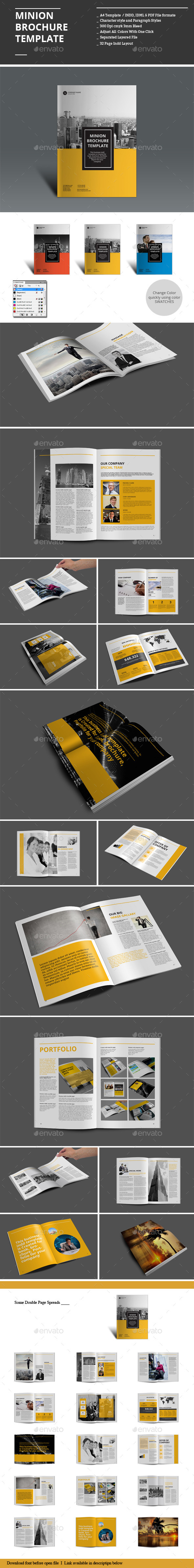 Minion Brochure Templates | Folleto corporativo, Folletos y Arte