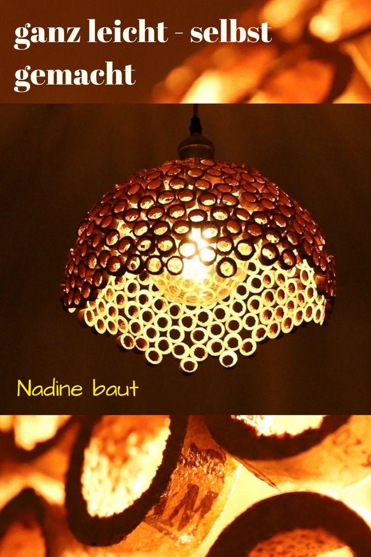 Lampe selber bauen - DIY aus Korken Einfach selber bauen ...