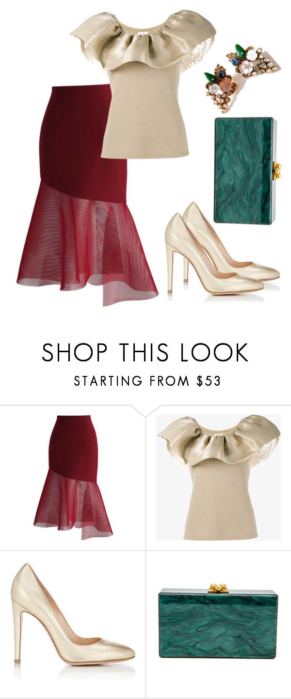 """""""Untitled #3389"""" by janicemckay ❤ liked on Polyvore featuring Chicwish, Maryam Nassir Zadeh, Gianvito Rossi and 1928"""