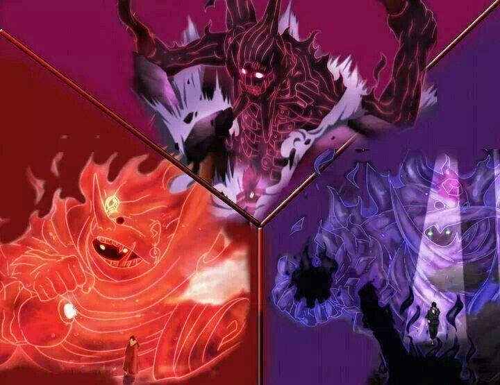 Itachi Sasuke Madaras Susanoo From Naruto