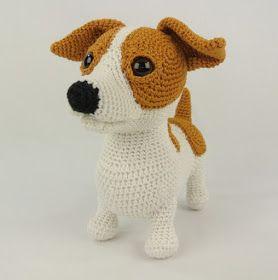 Onwijs haken haakpatronen haakboek letters haken bengels | Crocheted Dogs HN-05