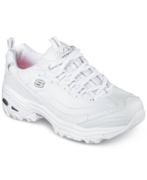 d59cfe79a72d Skechers Women s D Lites - Fresh Start Walking Sneakers from Finish Line -  WHITE SILVER 9