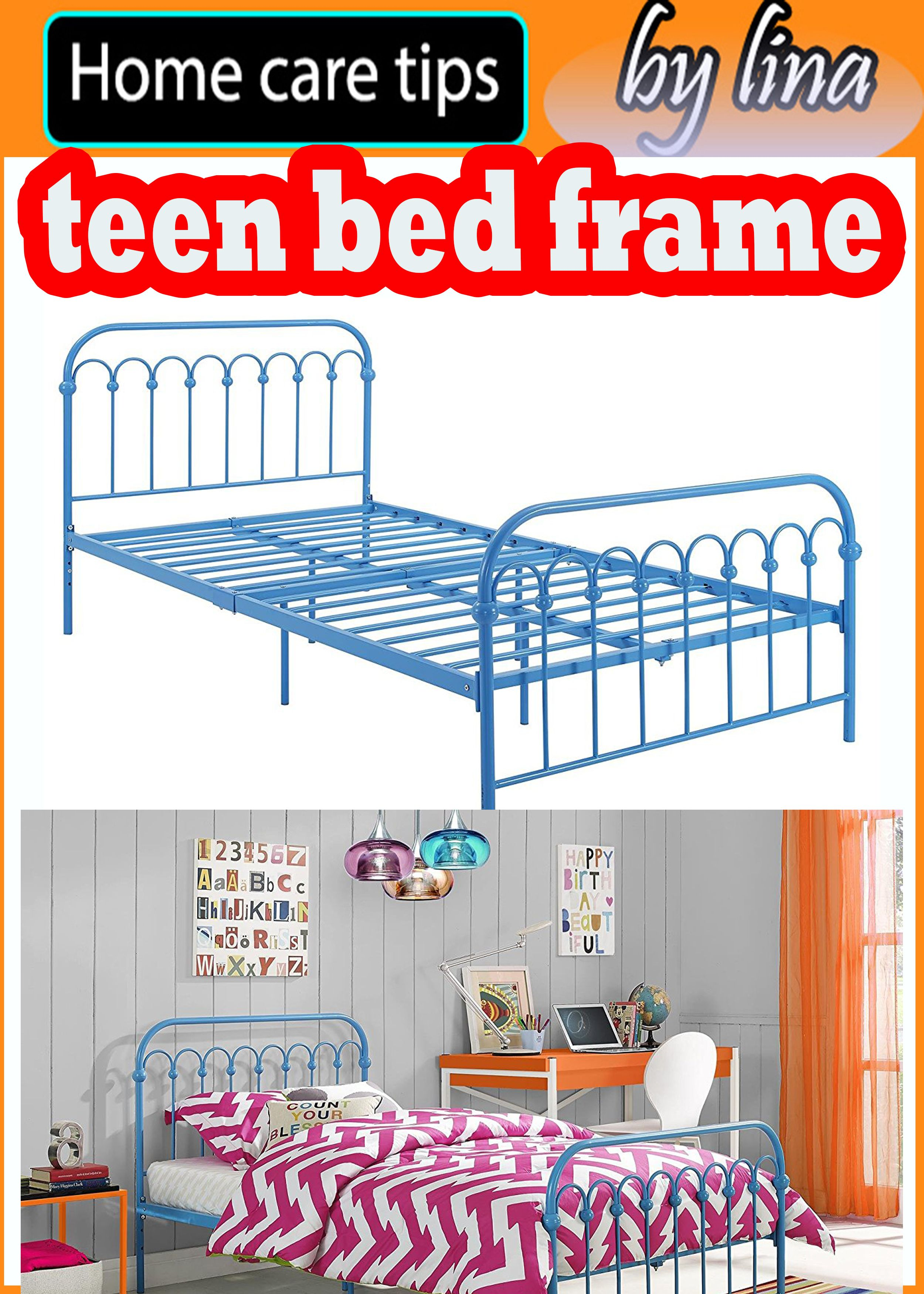 Bright Pop Metal Sturdy Bed Frame Adjustable Height For Underbed