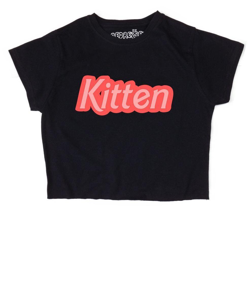 Kitten Crop Top Tops Crop Tops Kittens Shirt