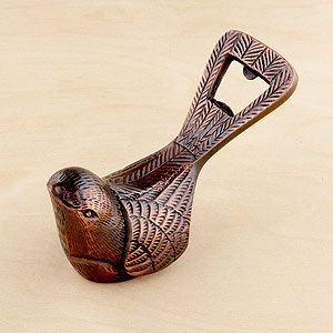 Bird Bottle Opener | World Market - What a statement piece! I love this bottle opener - totally would love it for the clyde trunk bar.