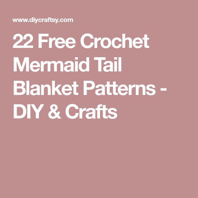 22 Free Crochet Mermaid Tail Blanket Patterns