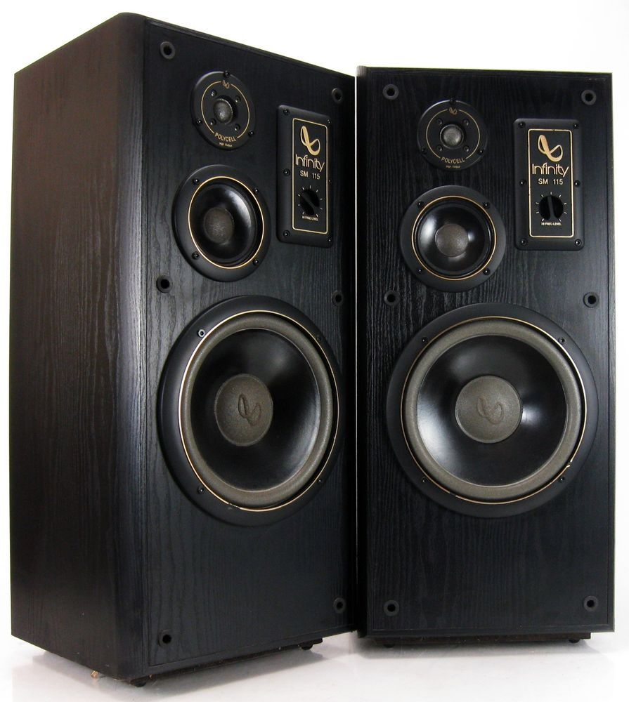 infinity sm 115 studio monitor speakers 3 way new grills nice vintagestereo. Black Bedroom Furniture Sets. Home Design Ideas
