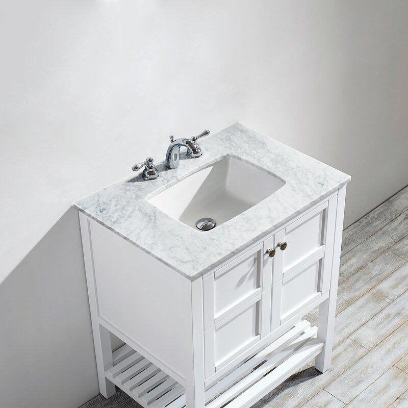 Zara 30 Single Bathroom Vanity Set Marble Vanity Tops Vanity Single Bathroom Vanity