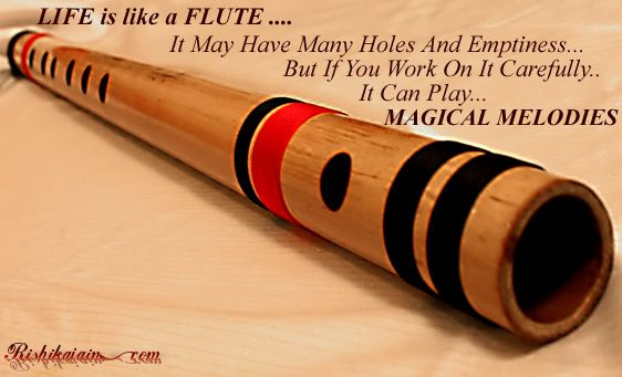 Life Is Like A Flute It May Have Many Holes Emptiness But If You Work On It Carefully It Can Play Magical Mel Flute Quotes Flute Inspirational Music Quotes