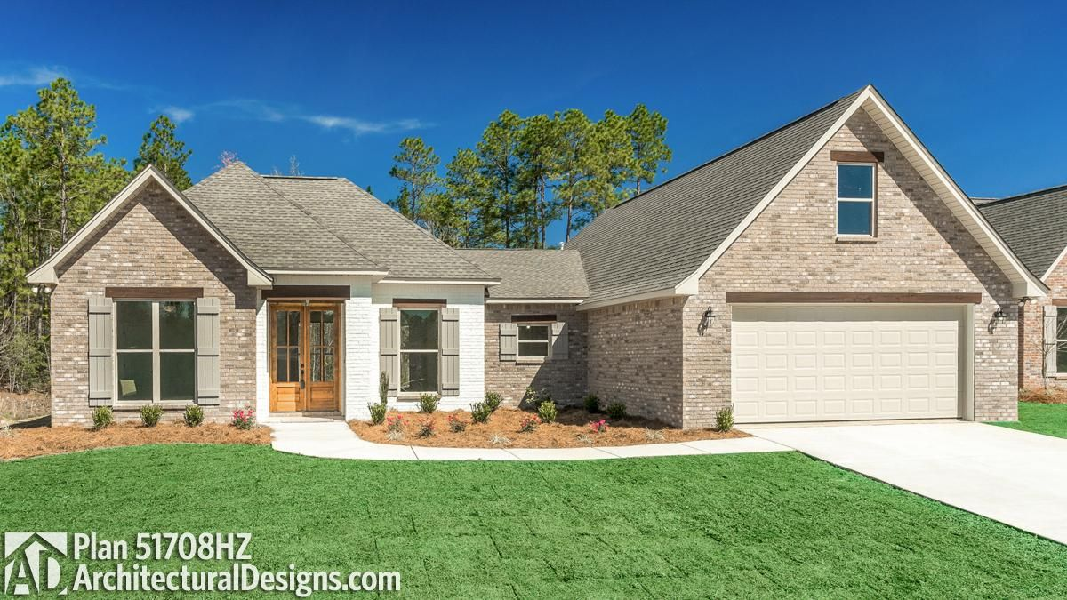 1,880+ Square Feet | 3-4 Bedrooms | 3-4 Full Baths | 2-Car Front Entry Garage We have construction documents available in PDF, CAD and Printed Set Formats! #adhouseplans #houseplans #homeplans #farmhousehome #whitefarmhouse #modernfarmhouse #houseplan #houseplandesign #floorplan #floorplans #buildingahome