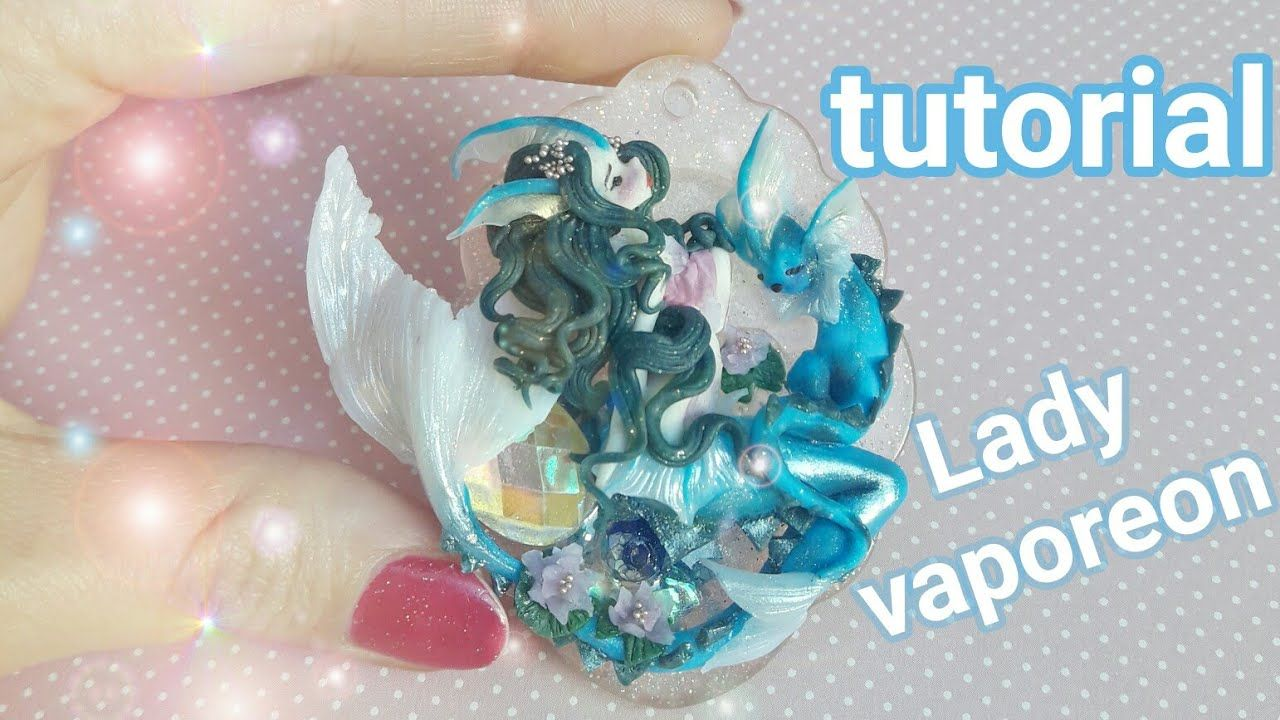 Lady vaporeon cameo polymer clay tutorial cameo chibi clay lady vaporeon cameo polymer clay tutorial baditri Images