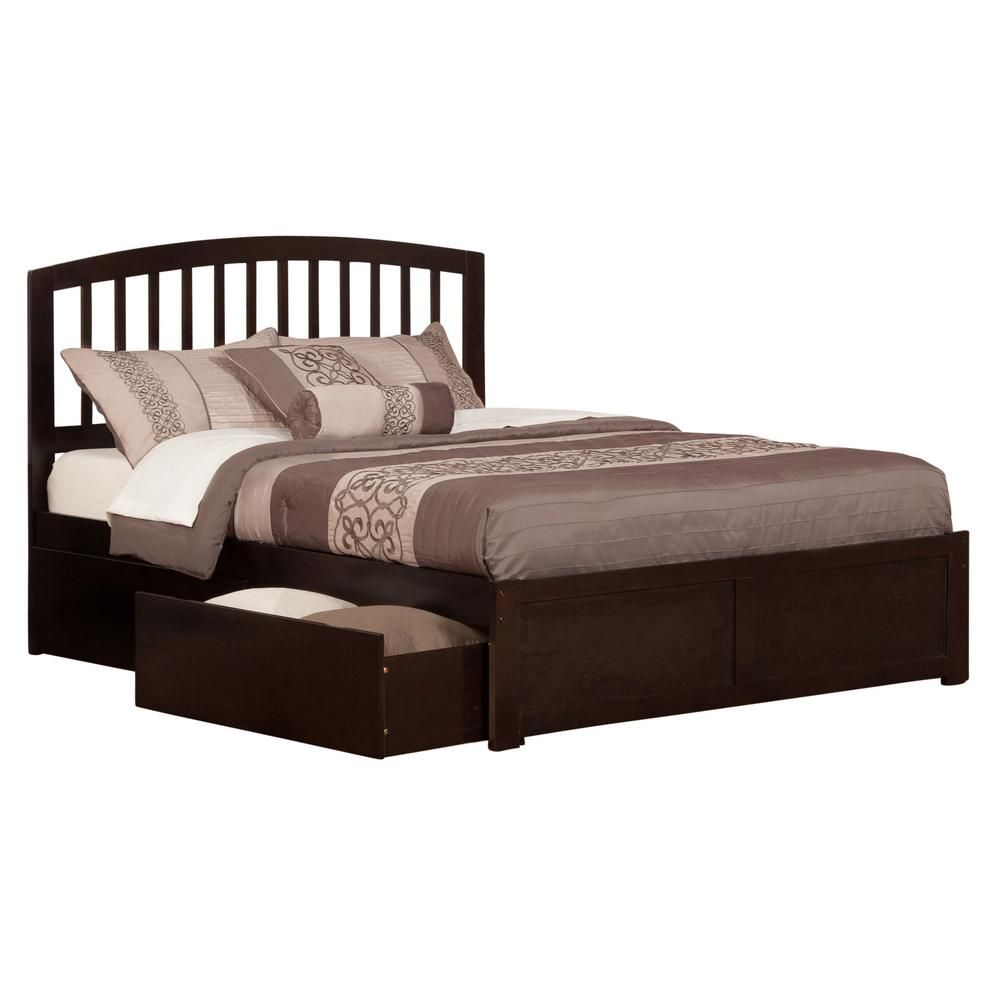 Atlantic Furniture Richmond Espresso Queen Platform Bed