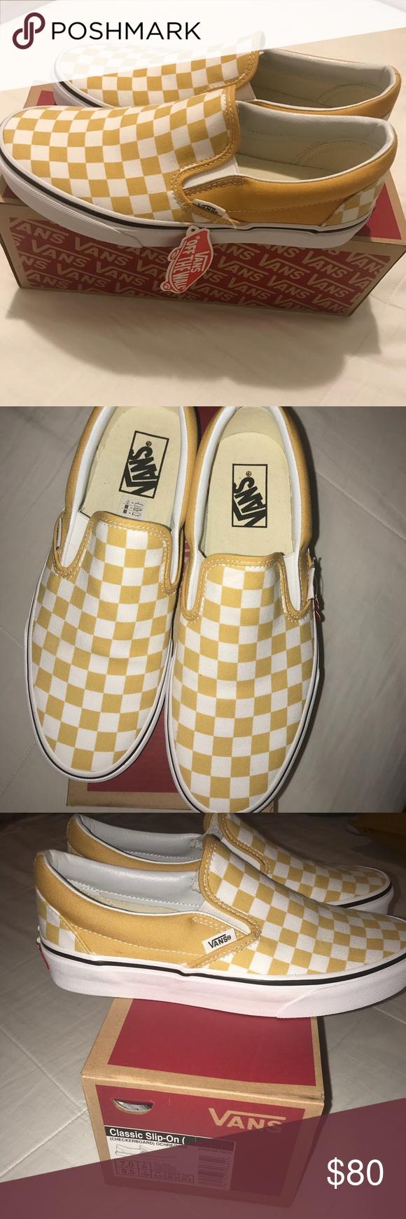 Mustard yellow vans Mustard yellow slip