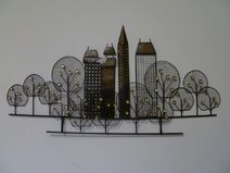 Wanddekoration · Wandschmuck Metall Abstrakt Skyline
