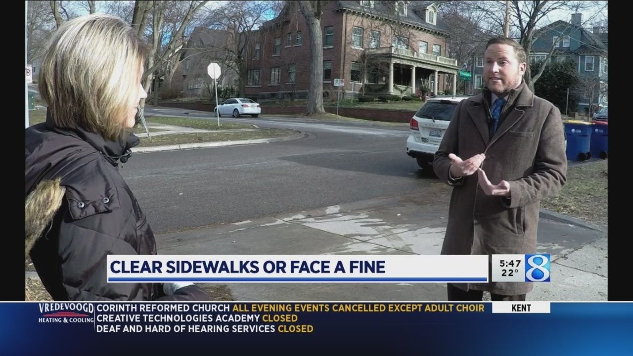 Icy Sidewalks Could Lead To Fines For Gr Property Owners Grand