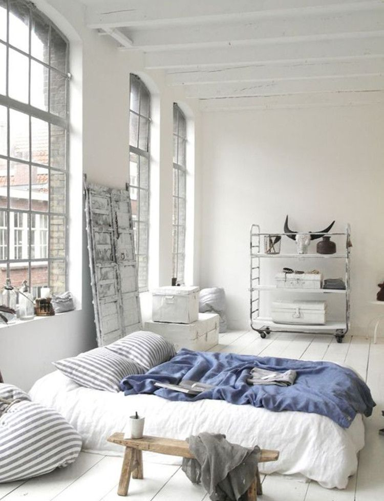 We re taking it back to basics with a mattress on the for Mattress on floor ideas
