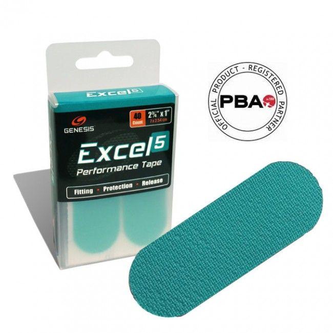 Genesis Excel Performance Tape 5 - Aqua #BowlingTape #InsertTape #FittingTape #FingerTape #BowlGenesis