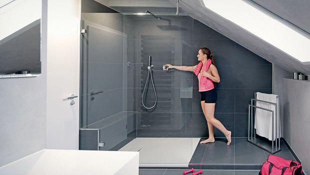 Grosse Dusche Im Kleinen Bad Die Badgestalter Grosse Dusche Kleines Bad Einrichten Bad