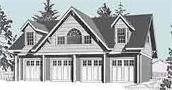 4 Car Carriage House Garage Plan - 2152-1 by Behm Design 48\' x 24 ...