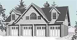 4 Car Carriage House Garage Plan - 2152-1 by Behm Design 48\' x 24 ...