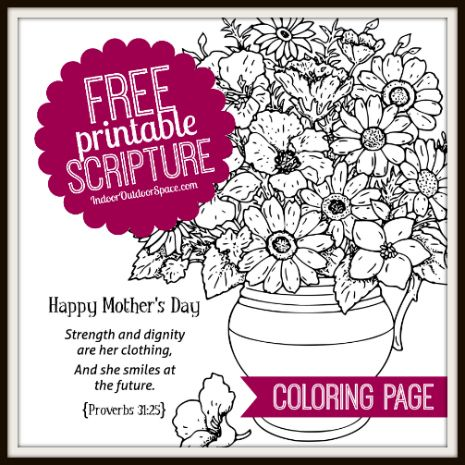 free proverbs 31 mothers day kids coloring page  coloring pages for kids coloring for kids