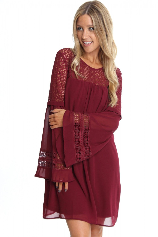 Bohemian Bliss Dress Wine Pretty Dresses Casual Womens Dresses Casual Dresses For Women