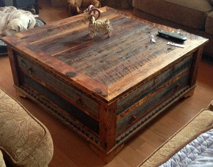 Charmant Reclaimed Wood Trunk Coffee Table
