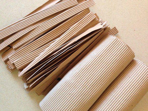 Krabička z vlnkového papíru • postup č1