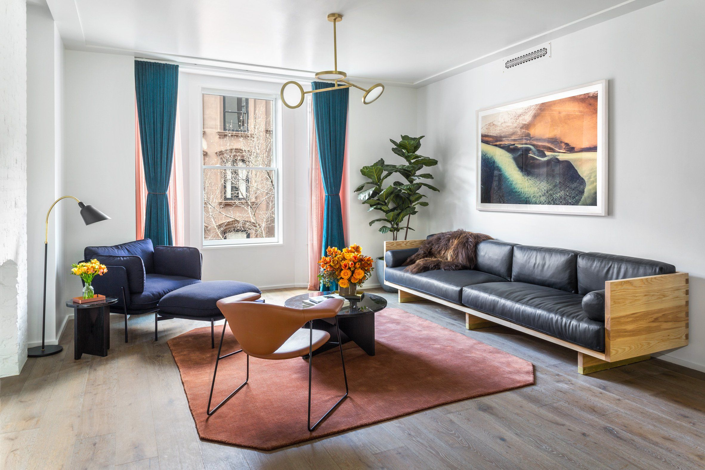 Brooklyn Apartment Gets Chic Interior Design By Local Studio Matter Curbedclockmenu Chic Interior Design Affordable Interior Design Interior Design Companies