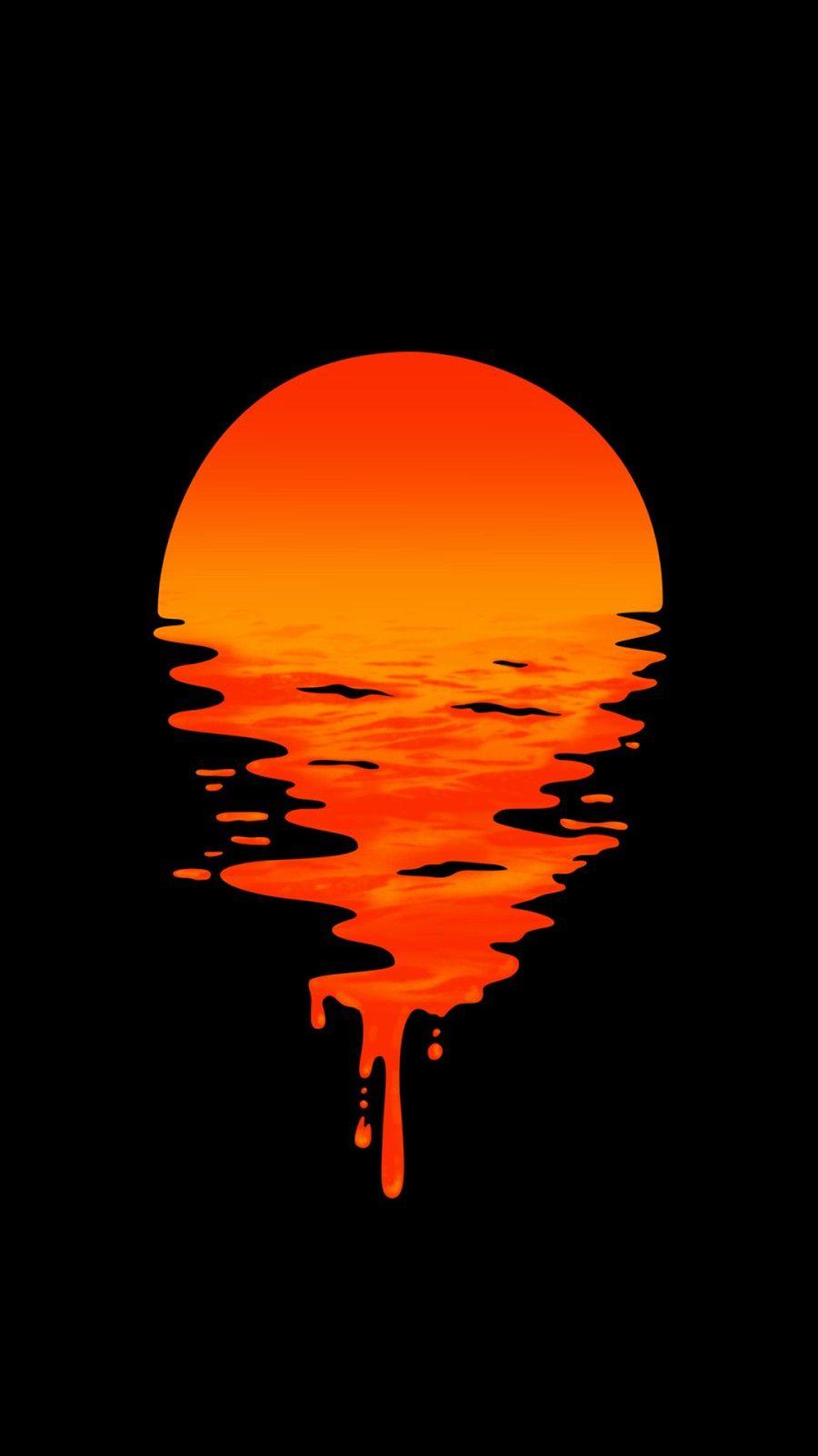 Coucher De Soleil Liquide Fantastic Wallpapers Dark Wallpaper Art Wallpaper