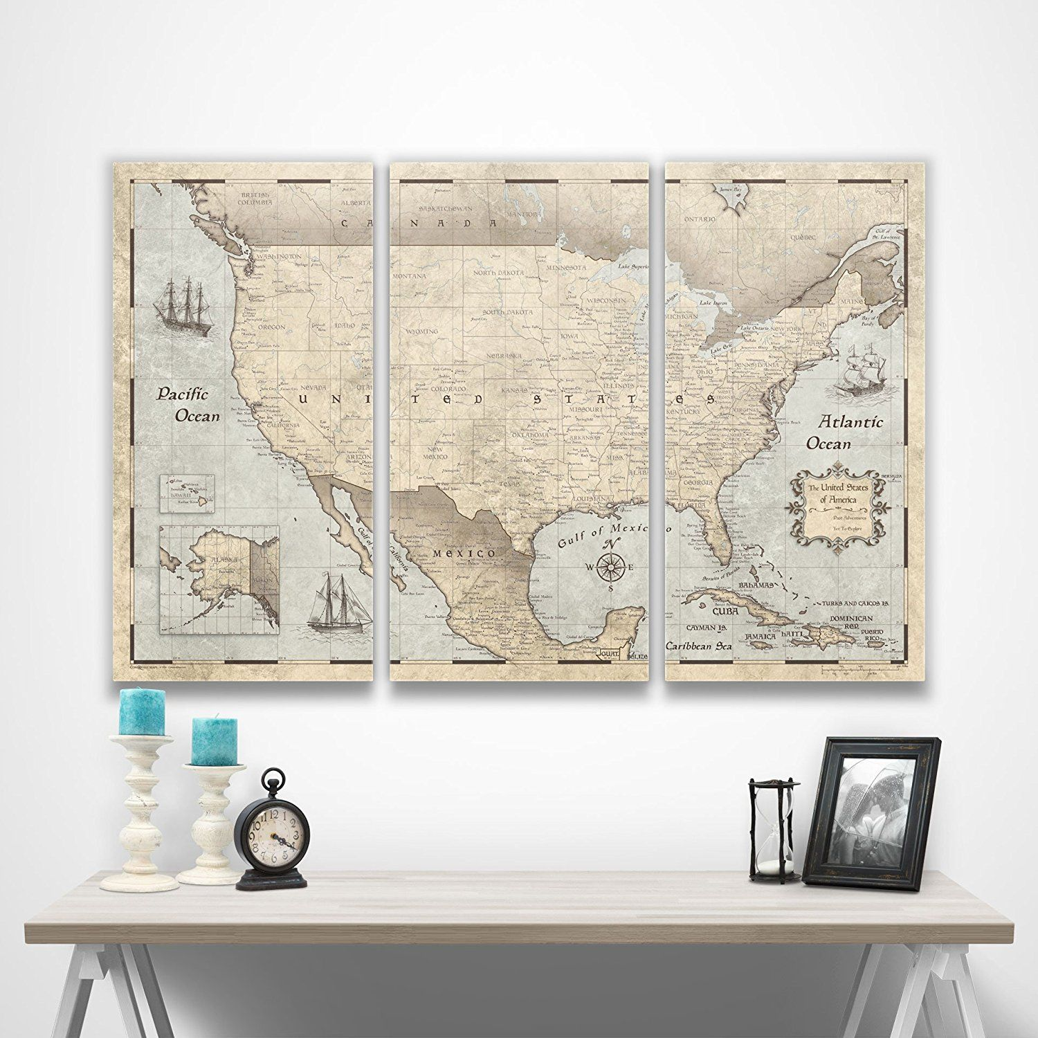 Amazon.com: United States Family Travel Map by Conquest Maps ... on united states map poster, united states map color, united states map 1860,