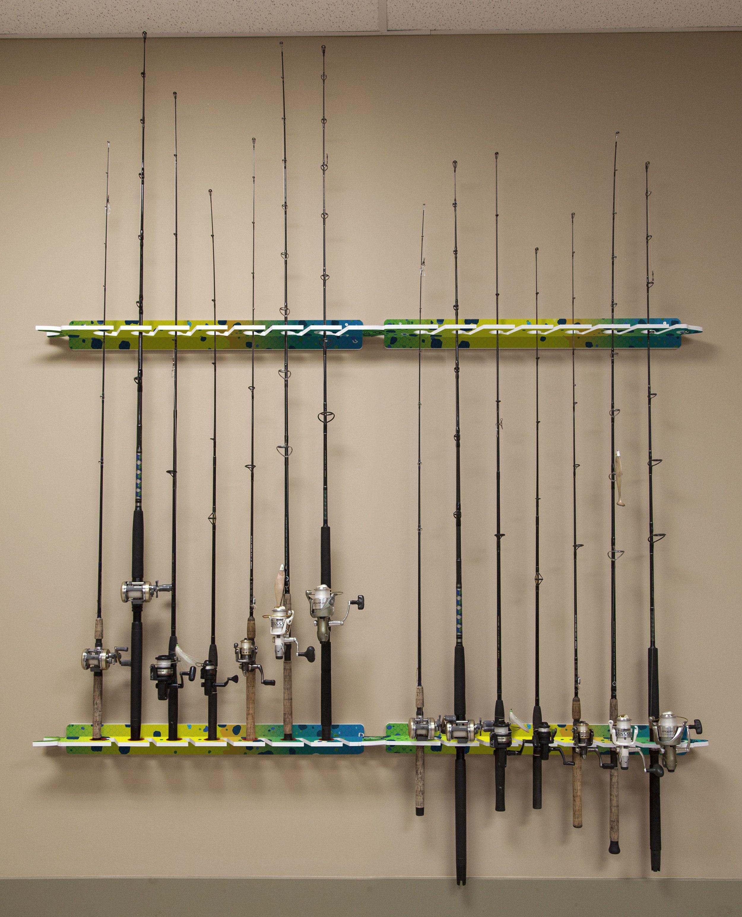 Boat Fishing 3 Rod Holder Tube Mount Pole Rack Pliers Lure Storage Organizer