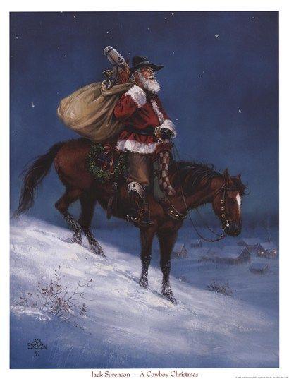 Cowboy Christmas by Jack Sorenson WILD WEST Pinterest Cowboy