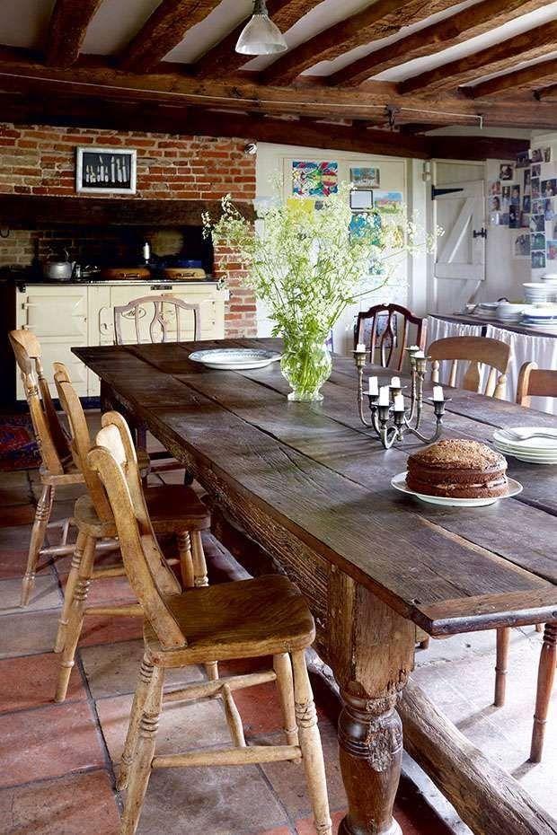9 fotos de decoración de comedores rústicos | casa dos ...