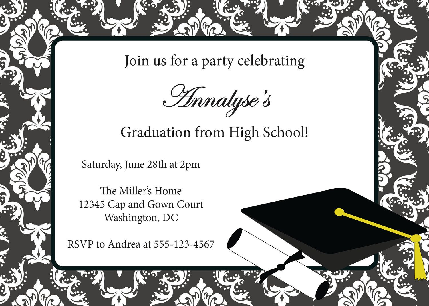 Graduation Invitation Templates Free MfJZZkLz Graduation - Party invitation template: grad party invites templates