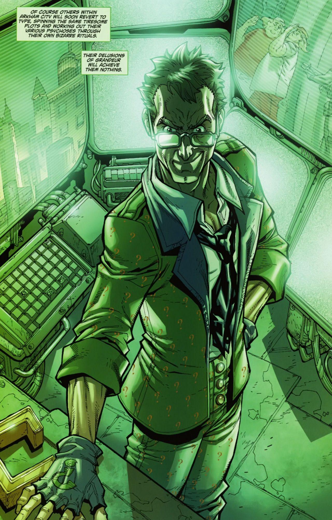 Riddler In Arkham City Gotham Villains