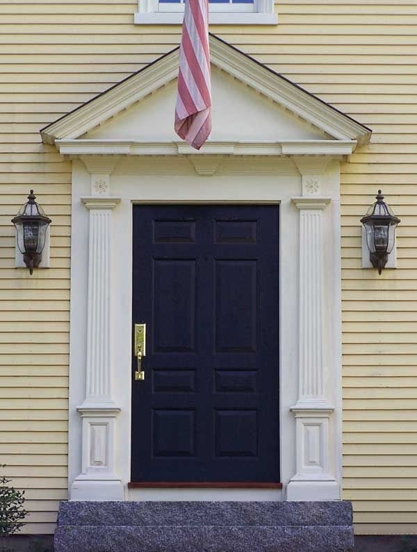 Triangular pediment colonial architecture pinterest for Exterior window pediments
