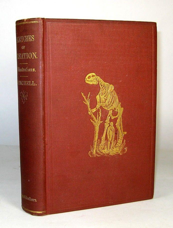 1873 Antique SCIENCE Creation BIBLE Paleontology GEOLOGY Dinosaur EVOLUTION God
