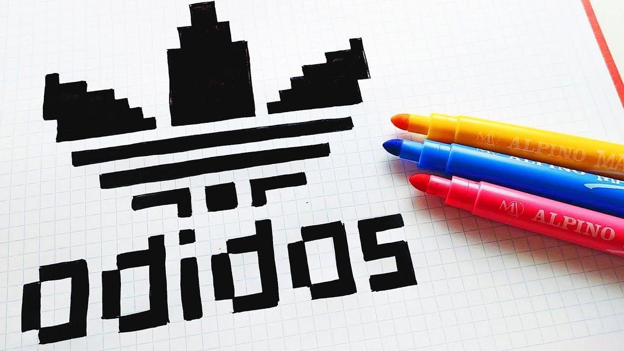 Pixel Art Hecho A Mano Cómo Dibujar El Logo Adidas Pixel