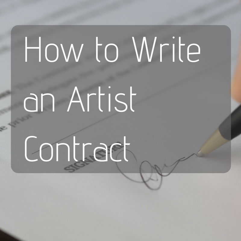 Resources for Writing a Solid Artist Contract Online