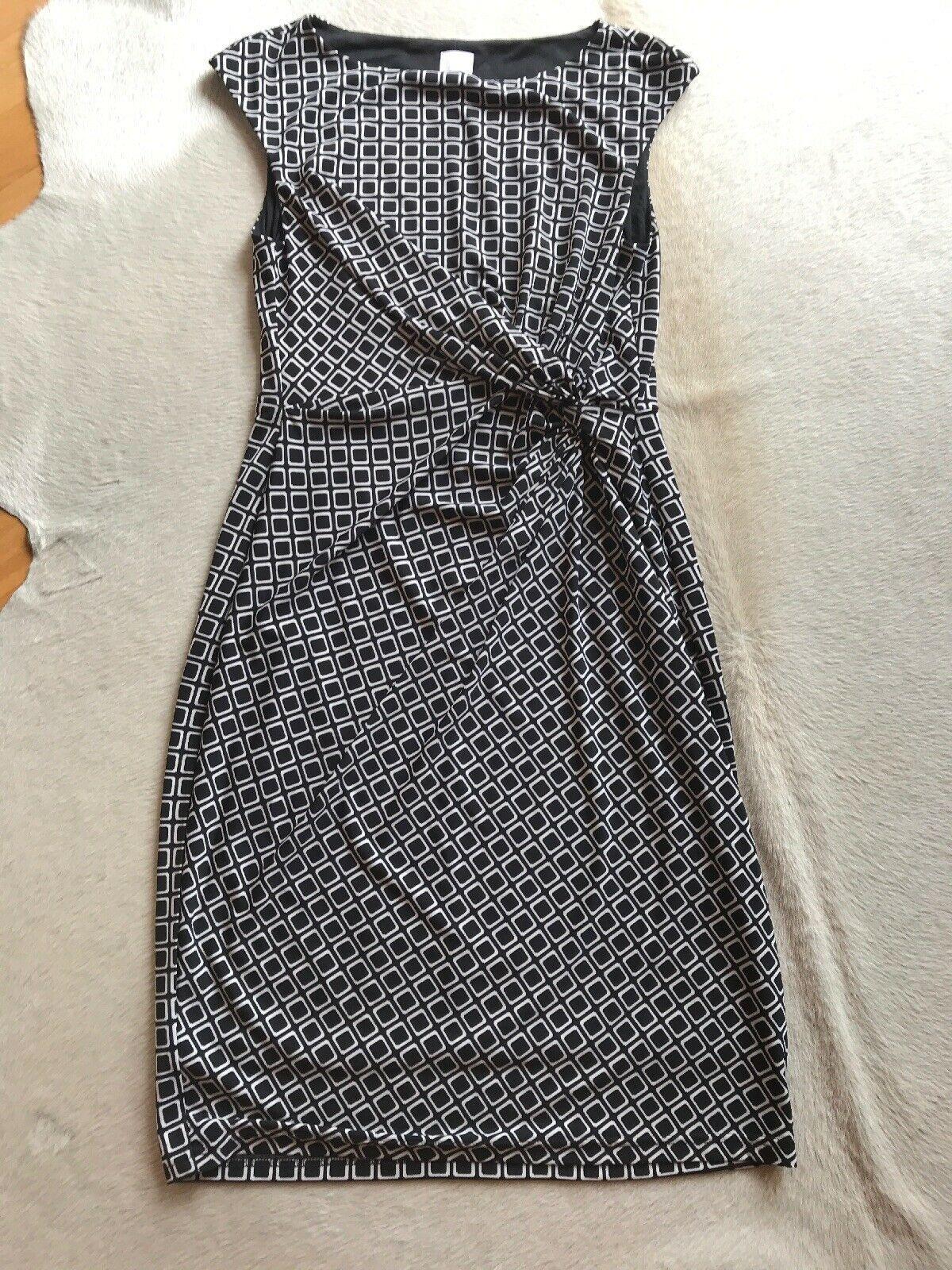 schönes alba moda kleid größe 38 schwarz/weiß - schöne