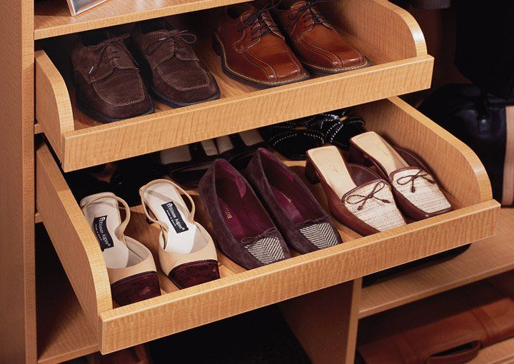 Pull Out Shoe Drawers Via Transform The Art Of Custom Storage Closet