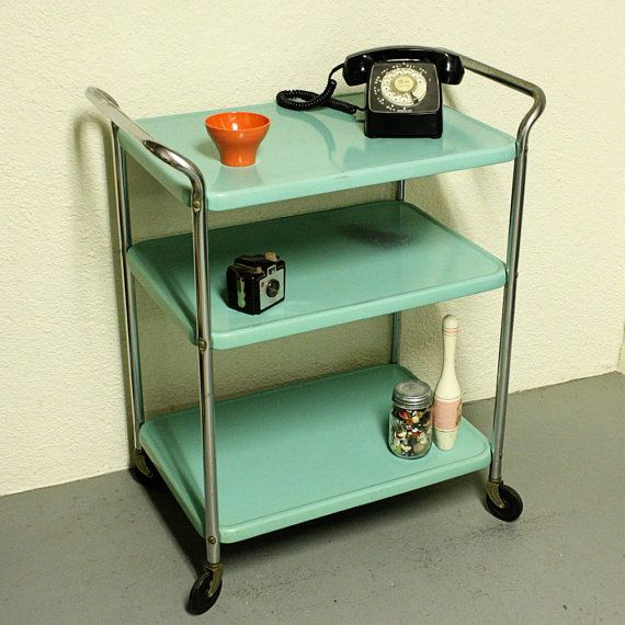 17 Best images about Vintage Metal Cosco Cart on Pinterest   Industrial  bars, Tea cart and Mid-century modern