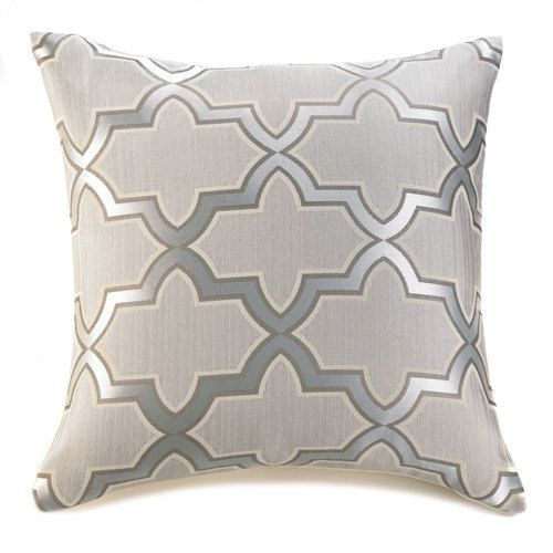 Silver Pattern Throw Pillow