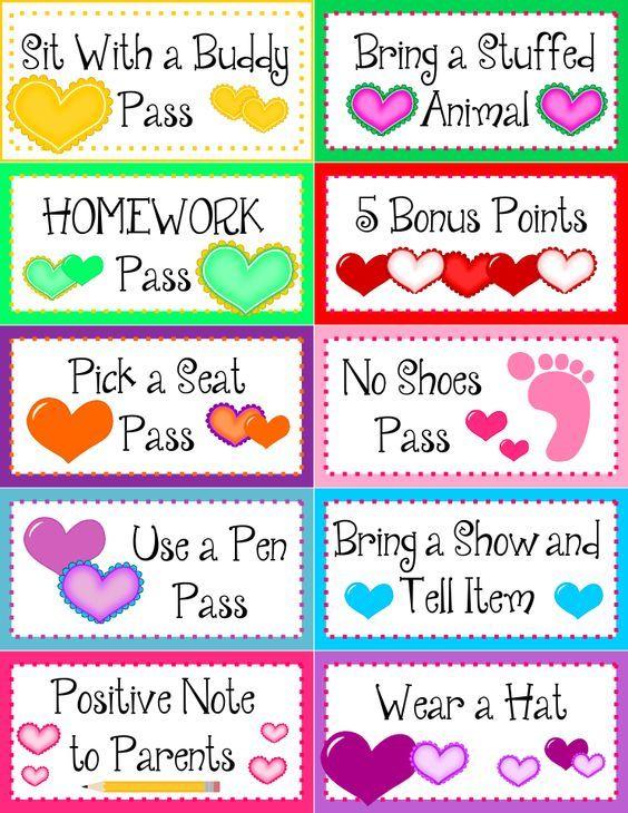 free student rewards … | Education | Pinterest | Student rewards ...