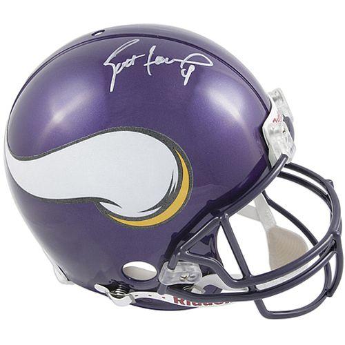 Mounted Memories Minnesota Vikings Brett Favre Signed Helmet - NFLShop.com $899.99