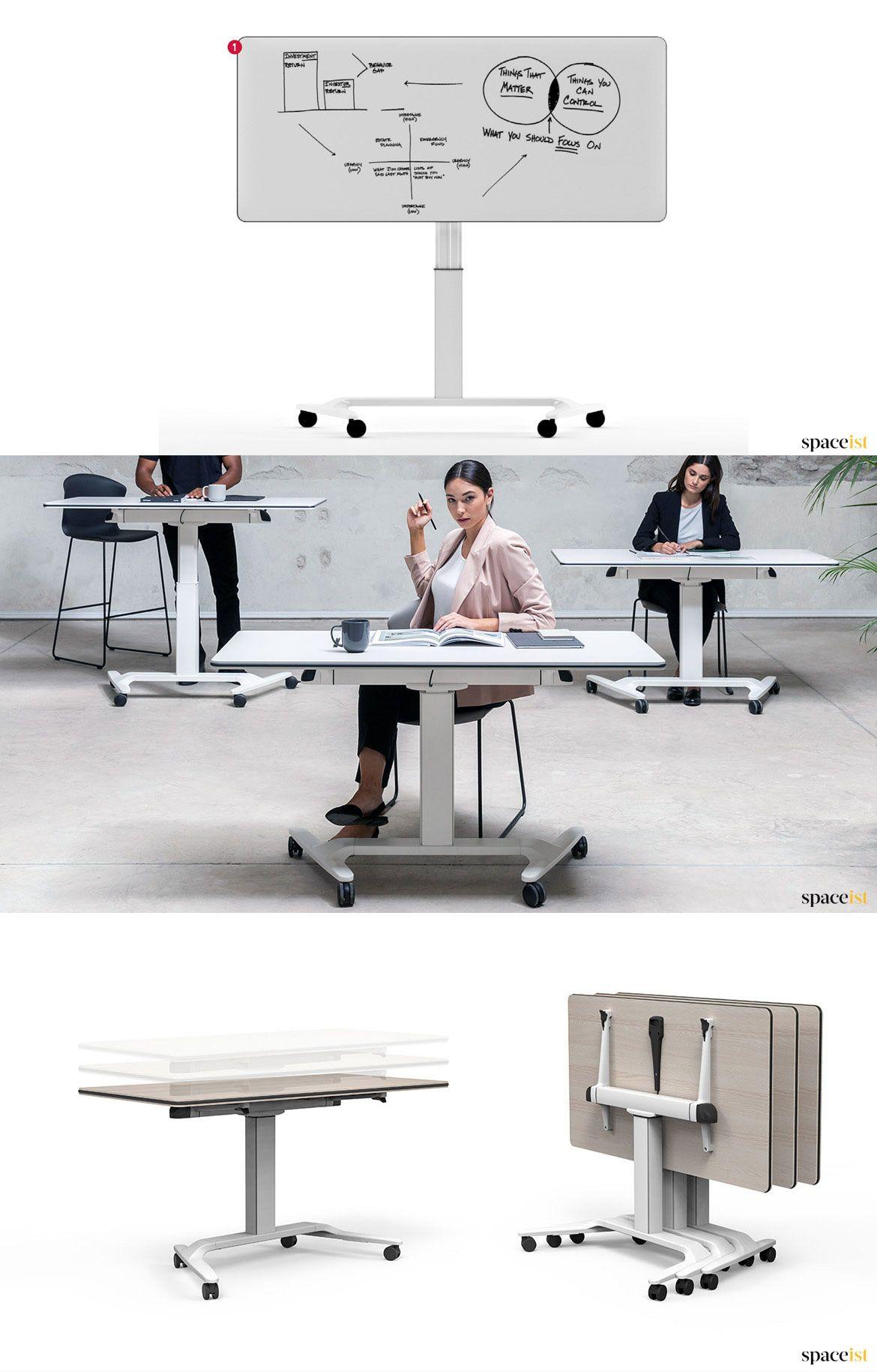 Talent Folding SitStand Desk Adjustable height desk
