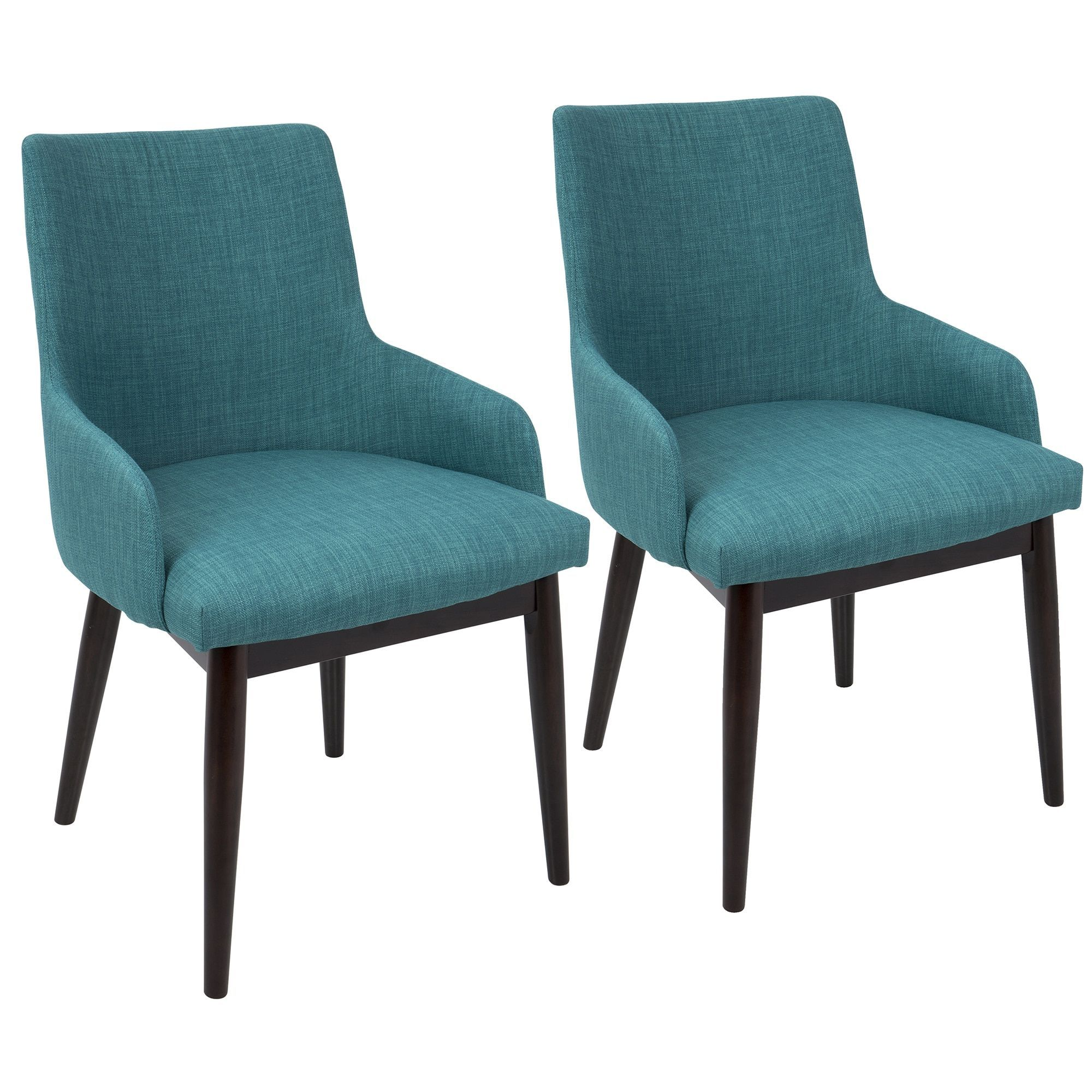 Santiago Fabric Upholstery Mid century Modern Dining Accent Chair