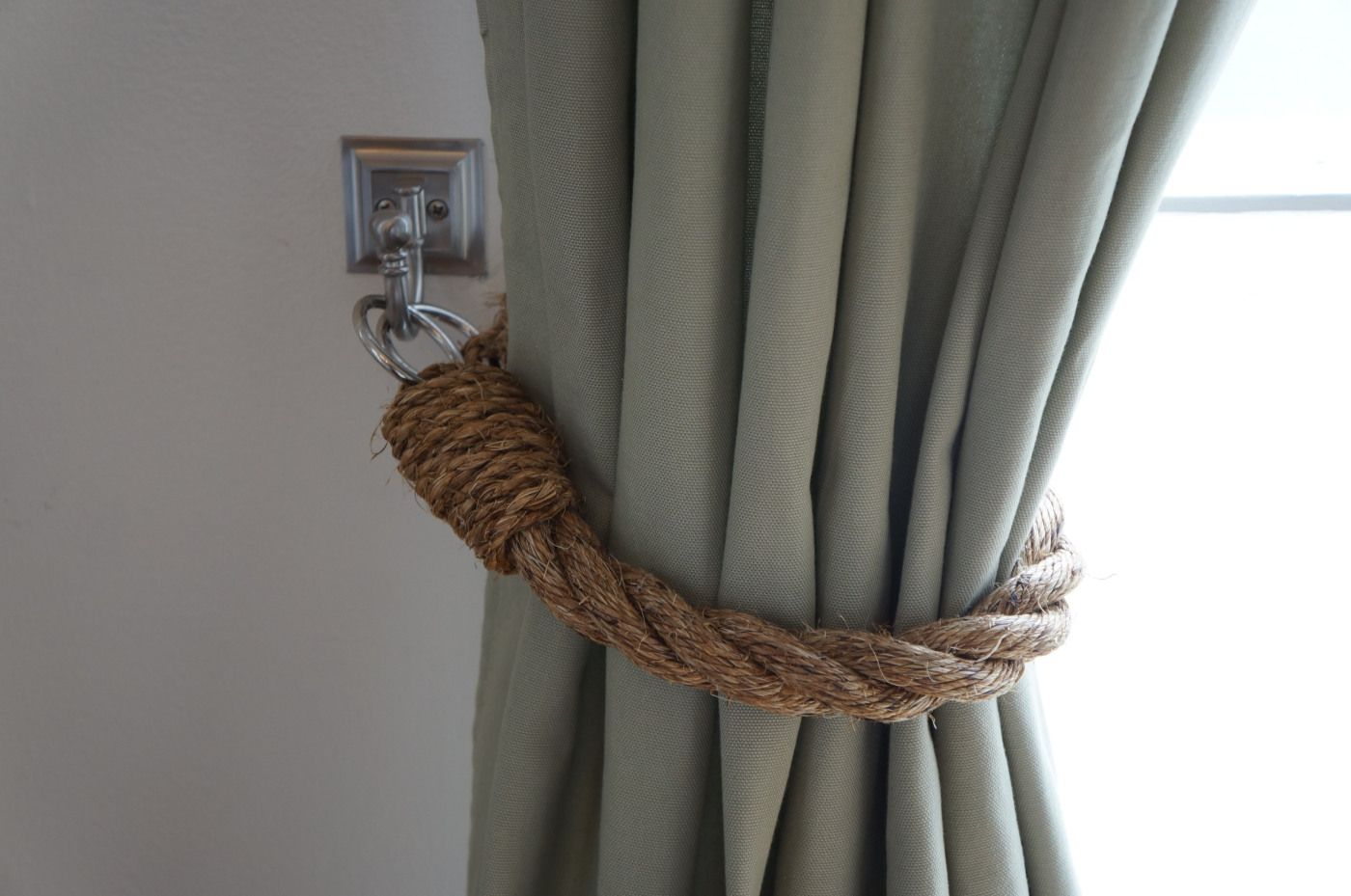Diy Rope Tiebacks Tieback Metal Curtain Tie Backs Beach Theme Decor
